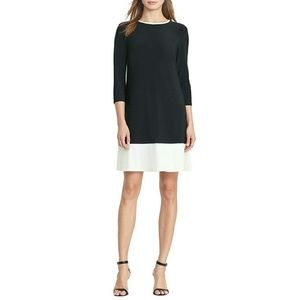 New! RALPH LAUREN Colorblock Jersey Shift Dress